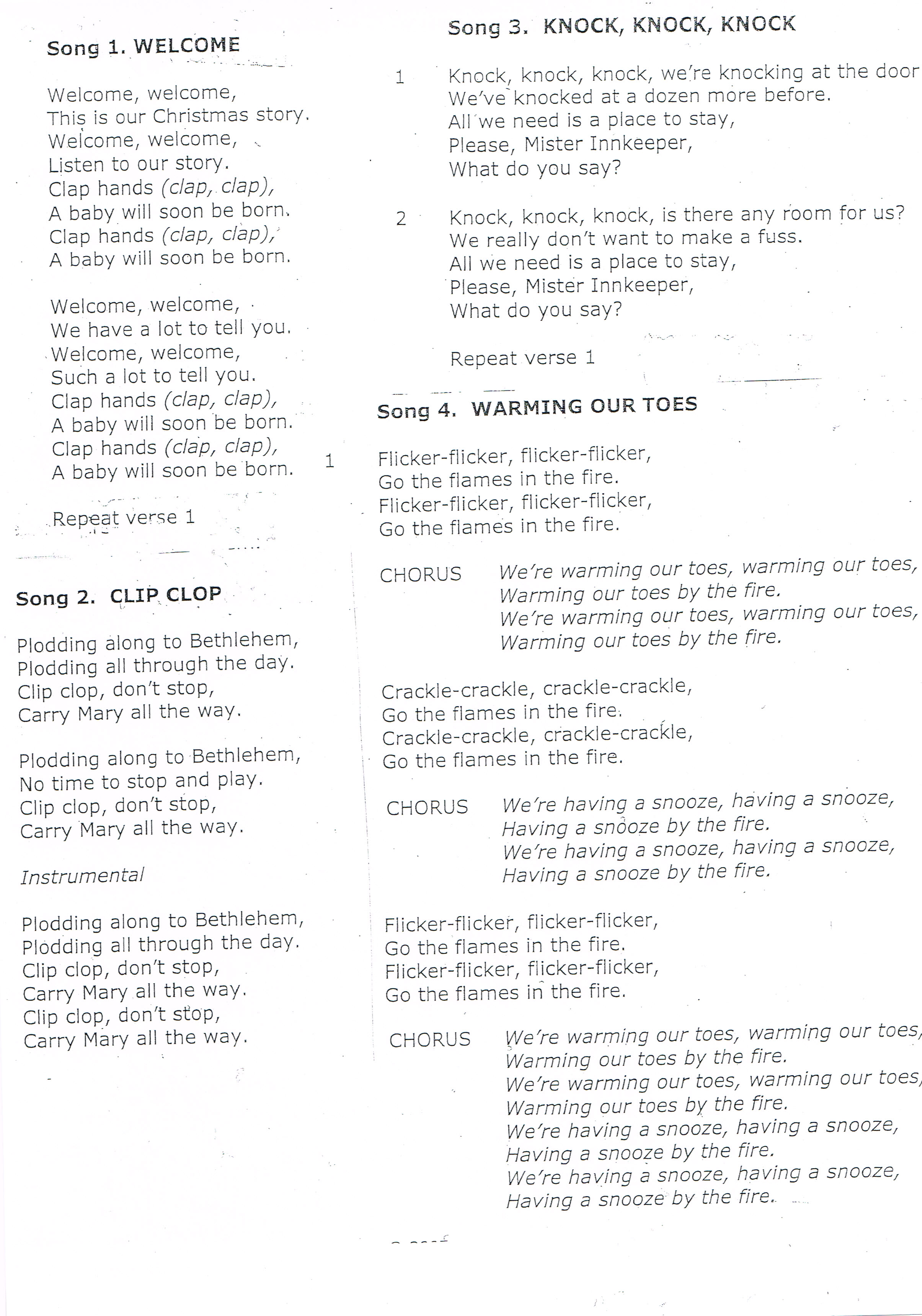 christmas songs for the play scroll down for 3 pages - All Christmas Songs